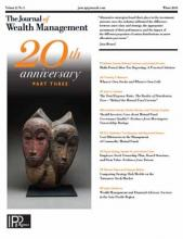 The Journal of Wealth Management: 21 (3)