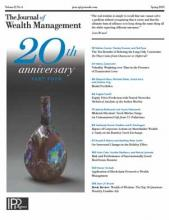 The Journal of Wealth Management: 21 (4)