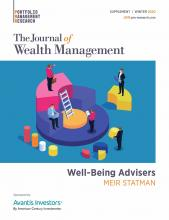 The Journal of Wealth Management: 23 (Supplement1)